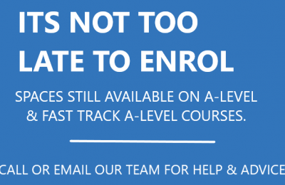 Not to late to enrol