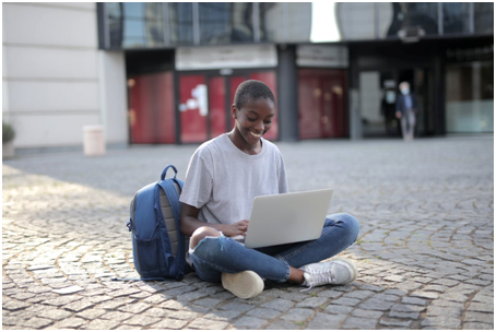A student taking online level 3 diploma classes