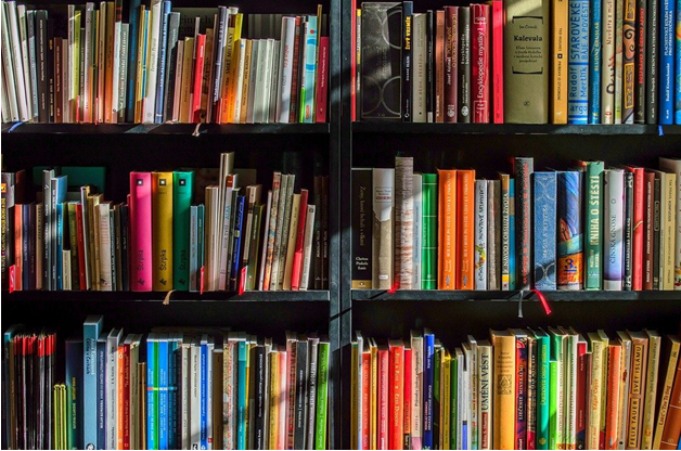 Books in a library