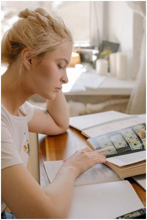 Girl preparing for an exam