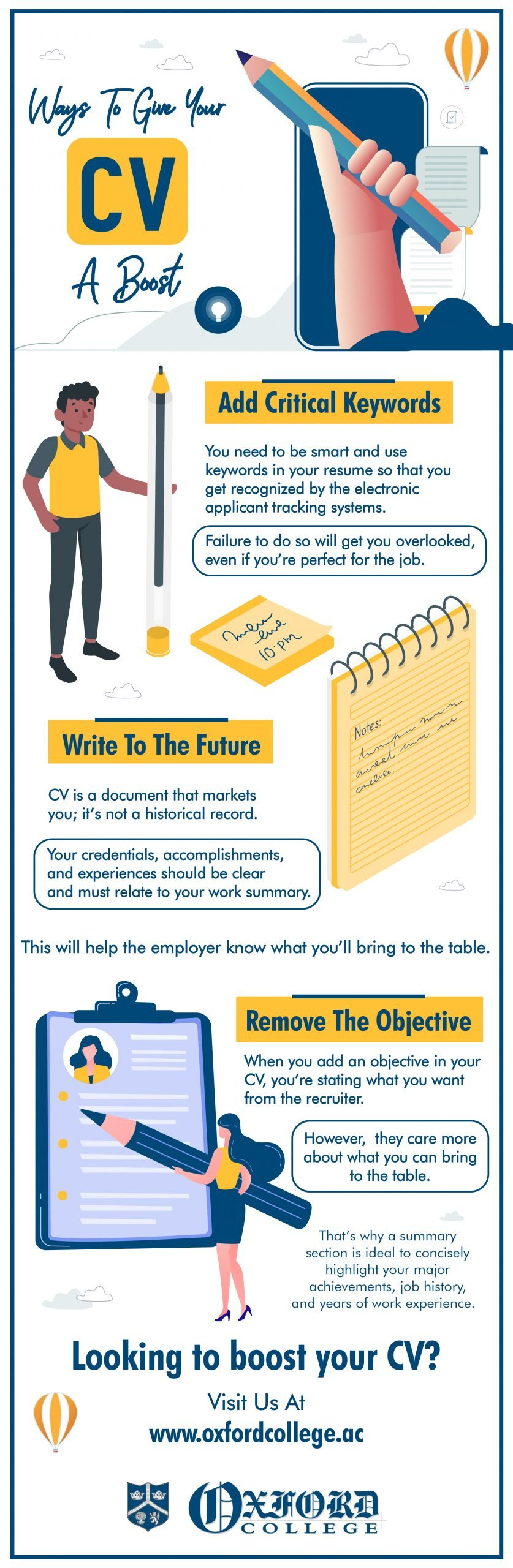 Ways to give your CV a boost